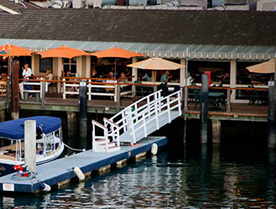 BLUEWATER GRILL | Newport Beach Electric Boats Rental | Duffy