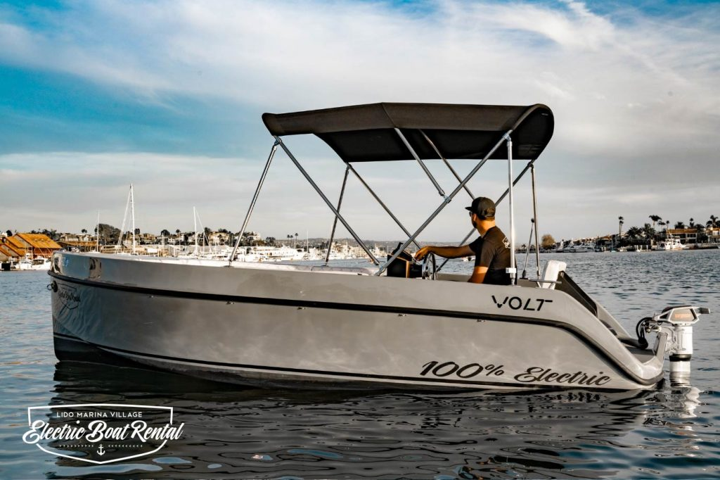 Volt 180 | Newport Beach Electric Boats Rental | Duffy