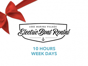 10 HOURS WEEK DAYS - Electric Boat Rental